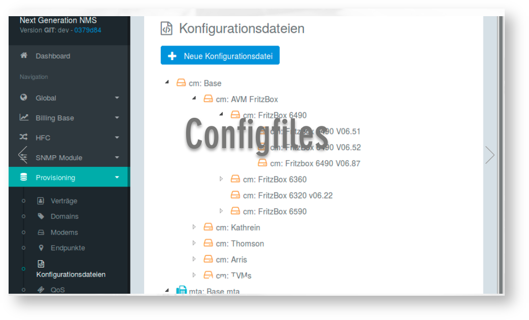Configmanagement Interface